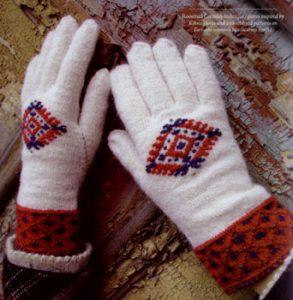 Roositud handschoenen