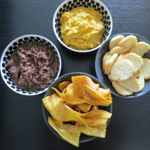 Tapenade en worteldip