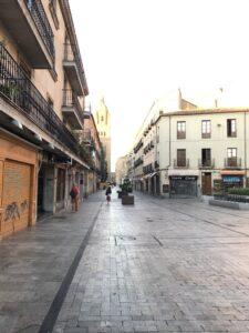 Lege straat in Salamanca
